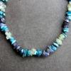 Collier - Apatite bleue / Iolite / Prehnite