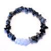 Bracelet - Obsidienne à flocons / Calcédoine bleue (commande personnalisée)